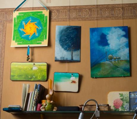 Новый вид стены над столом :)
