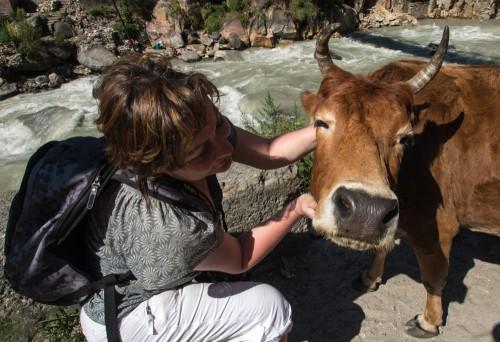 Ира с Коровой